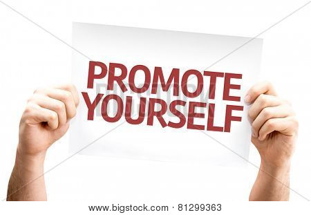 Promote Yourself card isolated on white background