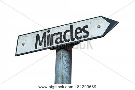Miracles sign isolated on white background