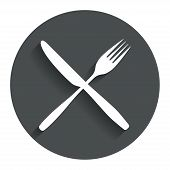 picture of knife  - Eat sign icon - JPG
