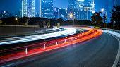 foto of speeding car  -  rapid city traffic - JPG