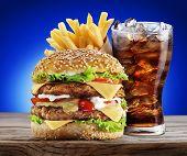 stock photo of takeaway  - Hamburger - JPG