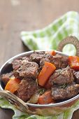 image of stew  - Homemade Irish Beef Stew with Carrots and Potatoes - JPG