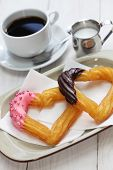 foto of churros  - homemade heart shape churro - JPG