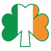 stock photo of irish flag  - Three hearts forming a clover leaf - JPG