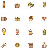 stock photo of keg  - Set of the beer  related icon - JPG