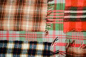 foto of transverse  - background multicolored old wool blanket stitched cell - JPG