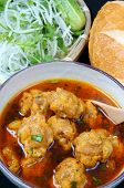 foto of scallion  - Vietnamese food meatball make from ground meat delicious popular street food or Vietnam meal season with vegetable as - JPG