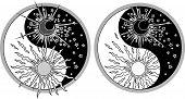 stock photo of yin  - Yin Yang symbol  - JPG