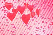 image of girly  - Love hearts against digitally generated girly heart design - JPG