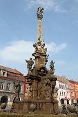 stock photo of bohemia  - Baroque plague column designed by sculptor Matthias Bernard Braun in Jaromer - JPG