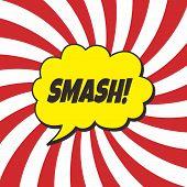 pic of nuke  - pop art retro theme vector graphic illustration - JPG