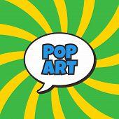 image of nuke  - pop art retro theme bubble caption vector illustration - JPG