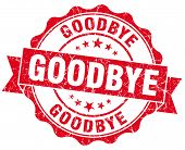picture of goodbye  - goodbye red grunge seal isolated on white - JPG