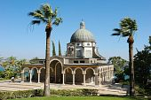 pic of beatitudes  - Church on the Mount of Beatitudes near Lake Kinneret  - JPG