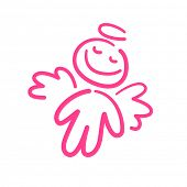 stock photo of sweet dreams  - pink angel dream - JPG