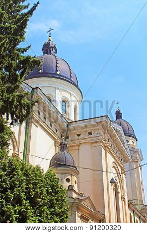 Church Of Transfiguration (preobrazhenska Tserkva) Located In Old Town Of Lviv, Ukraine
