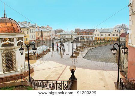 Turkish Square in Chernivtsi, Ukraine