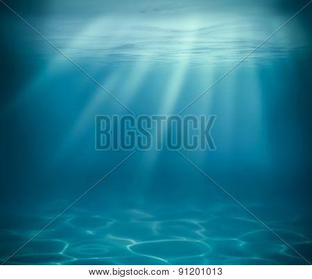 ocean or sea deep underwater background