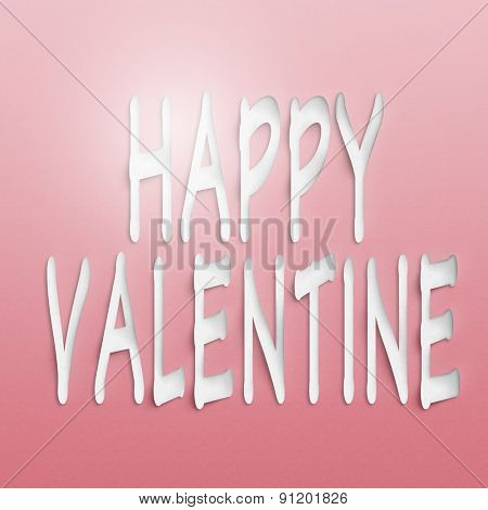 text on the wall or paper, happy valentine