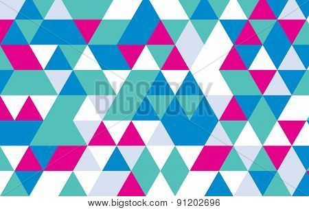 Geometric Abstract Background.triangle Pattern Vector Design.green Blue And Pink Triangular Backgrou