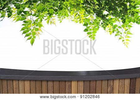 Perspective Terrace Wood And Beautiful Abstract Colorful Lightin