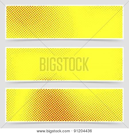 Pop-art Dotted Retro Style Yellow Flyer Collection