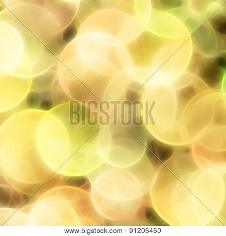Blurred Yellow Circles Background
