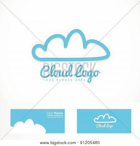Blue cloud hosting logo