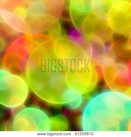 Blurred Multicolored Circles Background