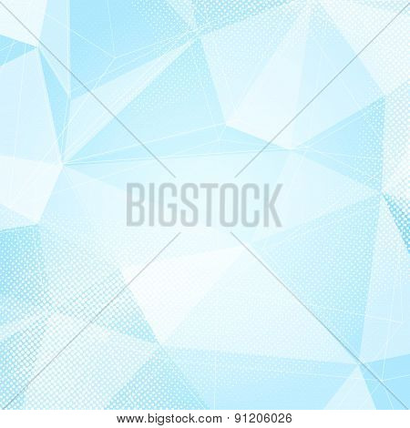 Blue Abstract Crystal Structure Dotted Hi-tech Layout