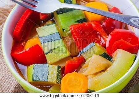 Vegetable Stew. Lecho, Lecso, Ratatouille