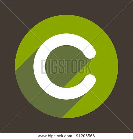 Letter C Logo Flat Icon Style. Vector