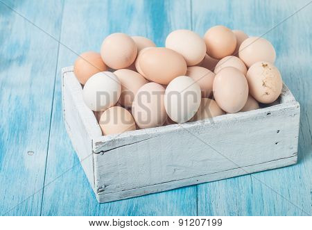 Farm Fresh Chicken Eggs In Box