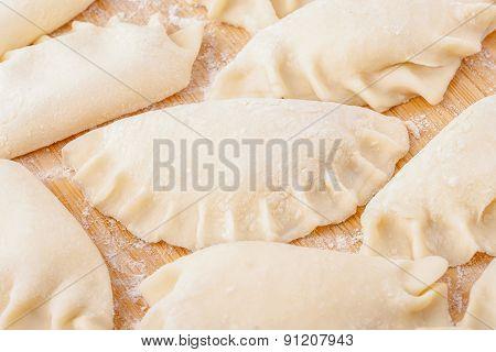 Fresh Homemade Dumplings Ready To Cooking