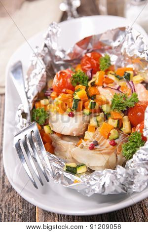 fish baked in paper