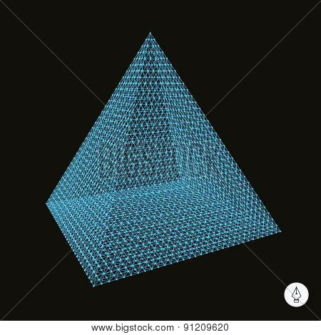 Pyramid. 3d vector illustration. Can be used as design element.