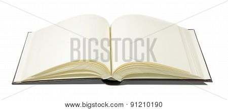 Book opening isolated on clear background