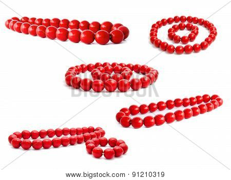 Collection Of Photos Red Wooden Beads