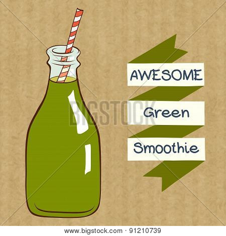 Bottle Of Smoothie