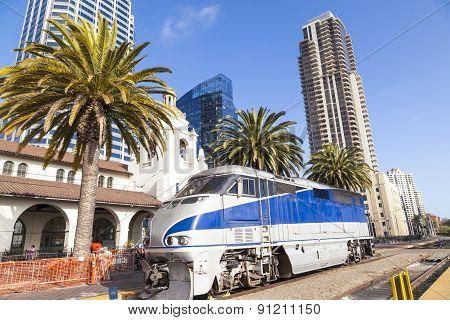 Diesel Locomotive; San Diego, California.