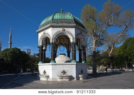 German Fountain in Sultanahmet Square. Istanbul. Turkey