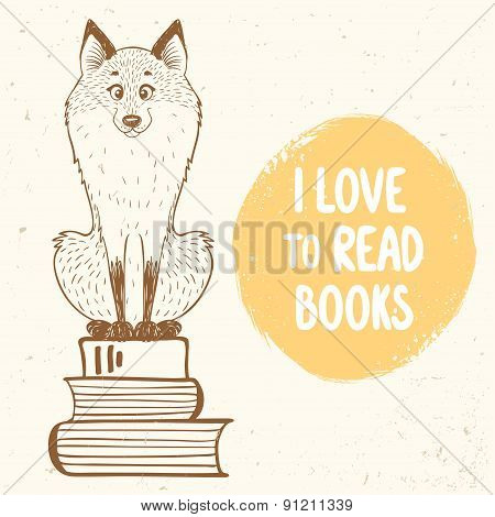 fox and books