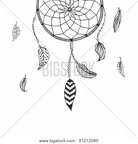 Vector hand drawn Dreamcatcher