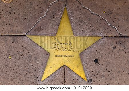 Star Of Woody Herman  On Sidewalk In Phoenix, Arizona.