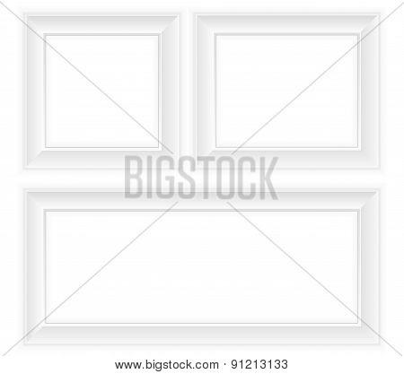 White Frame Vector Illustration
