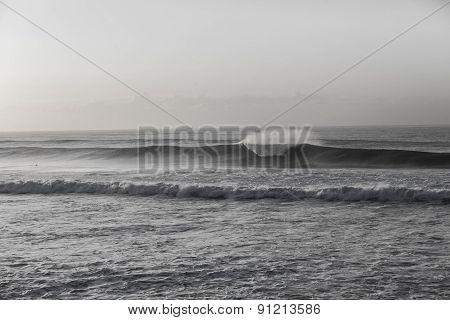 Wave Black White Swells