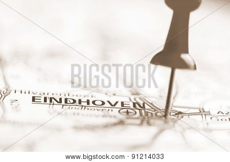 Eindhoven City On Map, Netherlands
