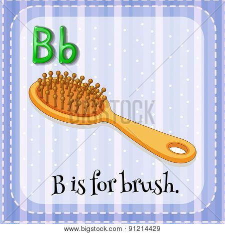Flashcard letter B is for brush