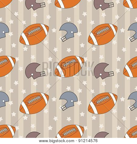 American football seamless pattern