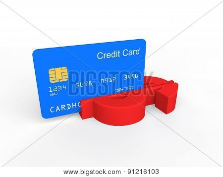 3d credit card swiping in dollar symbol